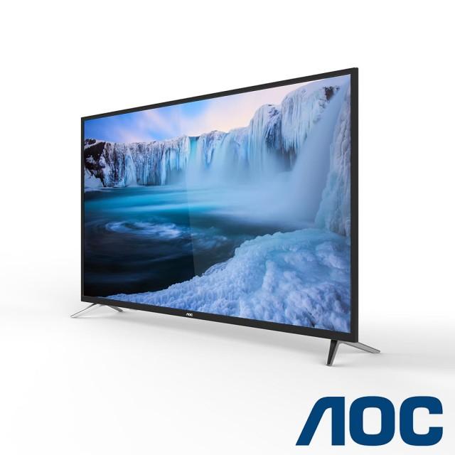 AOC 55型4K淨藍光智慧聯網顯示器+視訊盒
